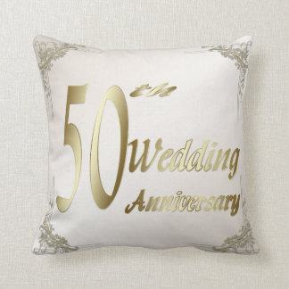 50th Wedding Anniversary Keepsake Pillow