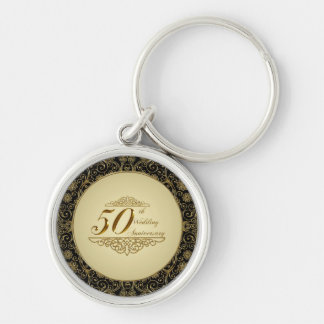 50th Wedding Anniversary Key Chain