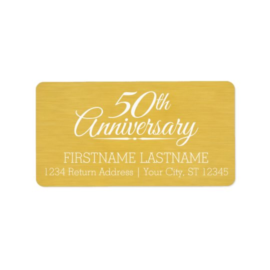 50th Wedding Anniversary Personalized Golden Label