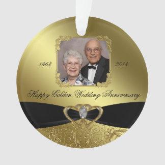 50th Wedding Anniversary Photo Acrylic Ornament