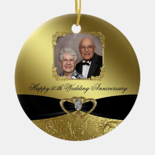 50th Wedding Anniversary Photo Ornament