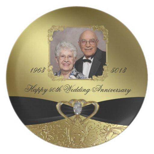 50th Wedding Anniversary Photo Plate