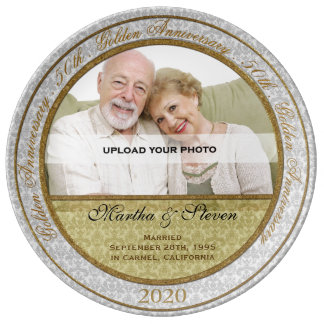 50th Wedding Anniversary Photo Porcelain Plate