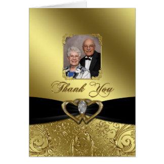 50th Wedding Anniversary Photo Thank You Card