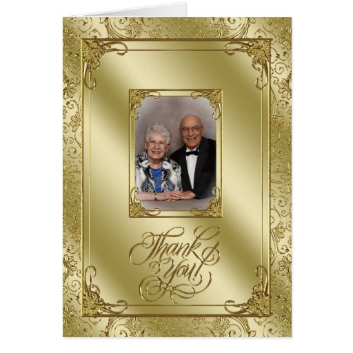 50th Wedding Anniversary Photo Thank You Card