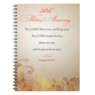 50th Wedding Anniversary, Religious Lord Bless Note Books