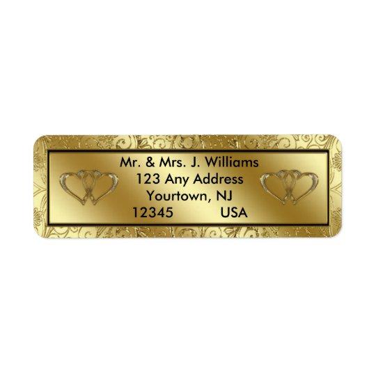 50th Wedding Anniversary Return Address Labels