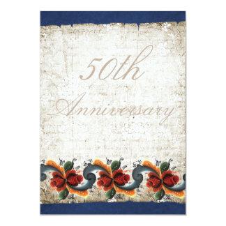 50th Wedding Anniversary Rosemaling Custom Card