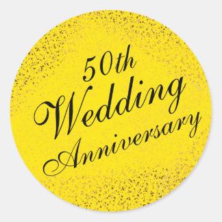 50th Wedding Anniversary Seal w Gold Confetti
