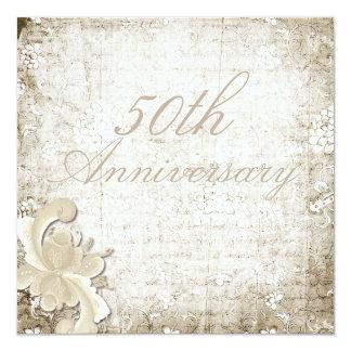 "50th Wedding Anniversary Telemark Design Custom 5.25"" Square Invitation Card"