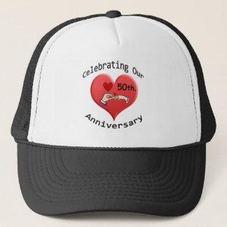 50th. Wedding Anniversary Trucker Hat