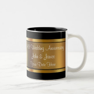 50th Wedding Anniversary Two-Tone Coffee Mug