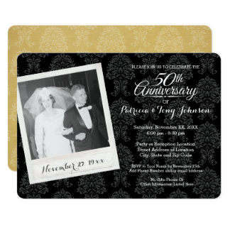 50th Wedding Anniversary with Vintage Photo Card