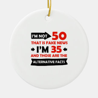 50th year old birthday gifts ceramic ornament