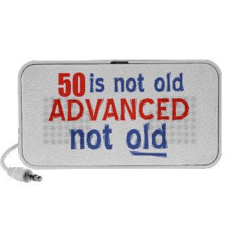 50years Old birthday designs iPhone Speakers