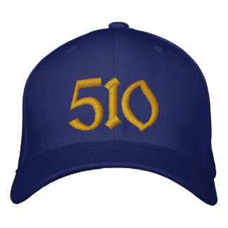 510 Baseball Cap - Blue and Gold