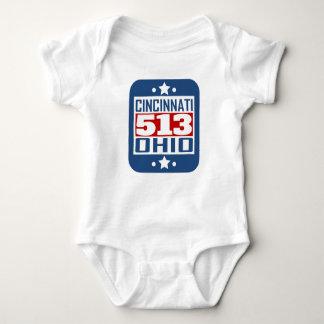 513 Cincinnati OH Area Code Baby Bodysuit