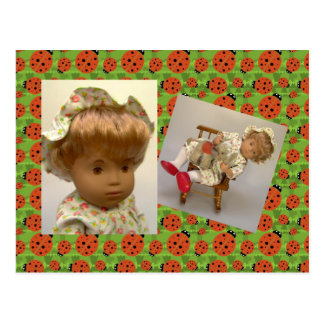 514s Sasha baby Rosie Flower Dress postcard