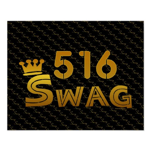 516 Area Code Swag Posters