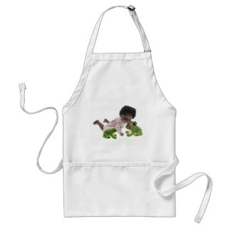519 Sasha Cara Black baby apron