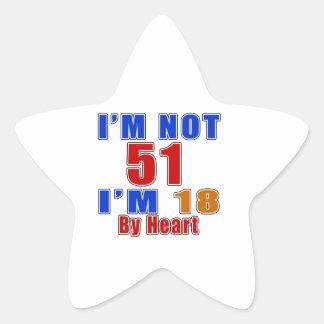 51 American Legend Birthday Designs Star Sticker