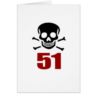51 Birthday Designs Card