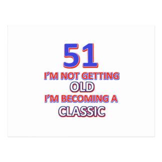 51 birthday desigs postcard