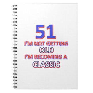 51 birthday desigs spiral notebooks
