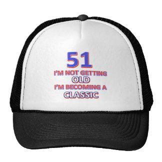 51 birthday desigs trucker hat