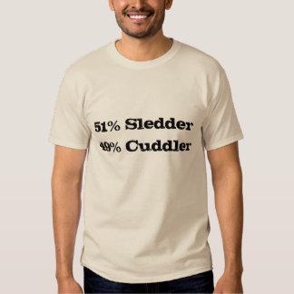 """""""51% Sledder, 49% Cuddler"""" Sledders.com T-shirt"""