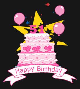 51 Year Old Birthday Cake T Shirt