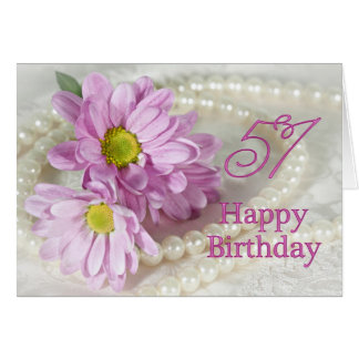 51st Birthday card with daisies