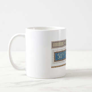 51st Street New York Subway Mosaic Coffee Mug