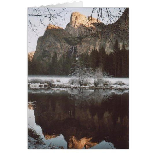 52. Cathedral Rocks & Wintry Reflections, Yosemite Card