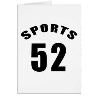 52 Sports Birthday Designs Card