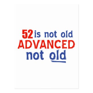 52 years Old birthday designs Postcard