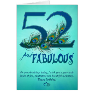 52nd Birthday template Cards