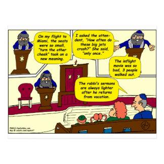 531 Rabbi Vacation cartoon Postcard