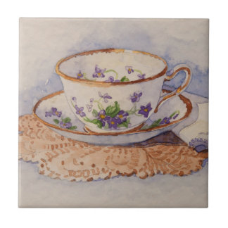 5322 Teacup on Lace Tile