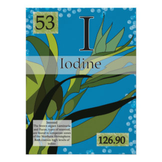 53. Iodine (I) Periodic Table of the Elements Poster