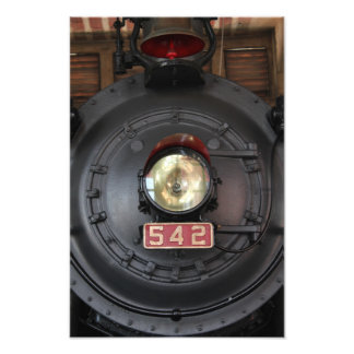 542 Train Engine, Light, and Bell Photo Print