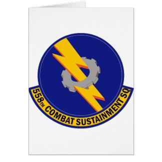 558th Combat Sustainment Squadron Greeting Card