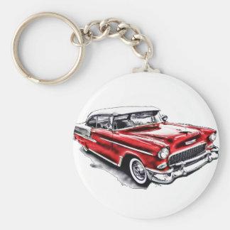 55 Chevy Basic Round Button Keychain
