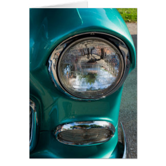 55 Chevy Headlight Card