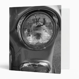 55 Chevy Headlight Grayscale 3 Ring Binder