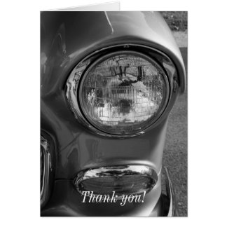 55 Chevy Headlight Grayscale Card