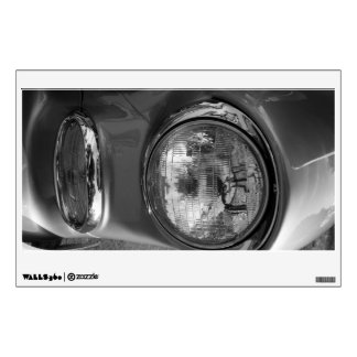 55 Chevy Headlight Grayscale Wall Sticker