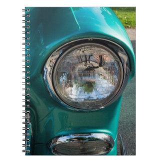 55 Chevy Headlight Notebooks
