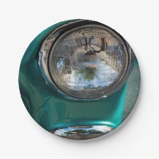 55 Chevy Headlight Paper Plate
