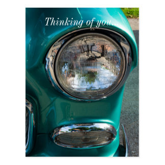 55 Chevy Headlight Postcard